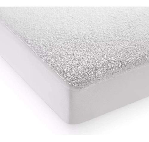 Protector De Colchón King 100% Impermeable Antifluidos