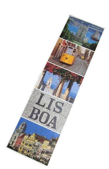 Señalador Separador Libro Lisboa Portugal Nuevo Plastificado