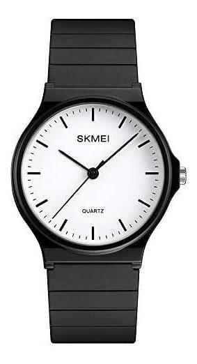 Reloj Skmei Analógico Negro/blanco Deportivo Y Casual