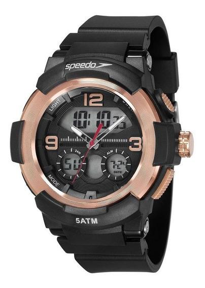Relógio Speedo Pulso Esportivo Masculi Feixo Pu 81185g0evnp2