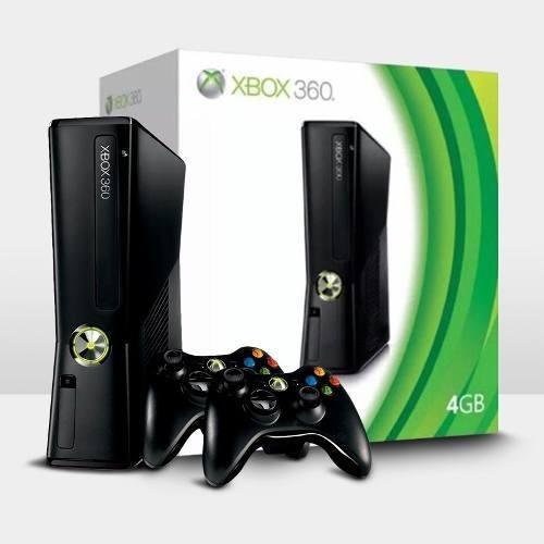 Console Xbox 360 Slim 4gb + 2 Controles