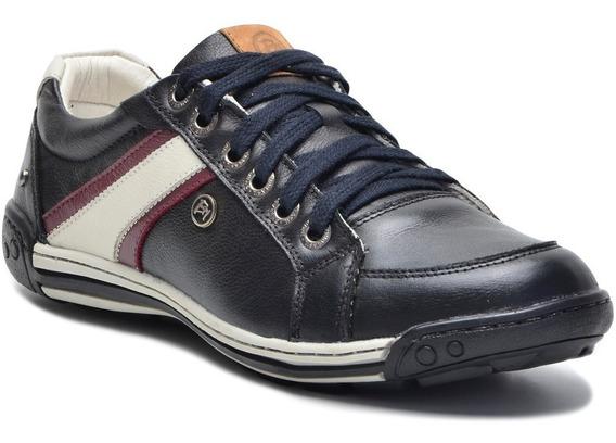 Sapato Sapatênis Masculino Couro Bmbrasil Cano Baixo 410
