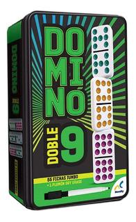 Domino Doble Nueve Doble 9 Cubano Mexican Train Novelty Corp