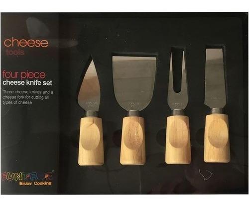 Set Para Quesos Con Cuchillo Y Utensillos X4   4435