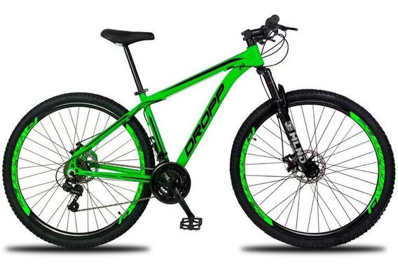 Bicicleta Aro 29 Quadro 17 Freio Mecânico 21v Verde Preto