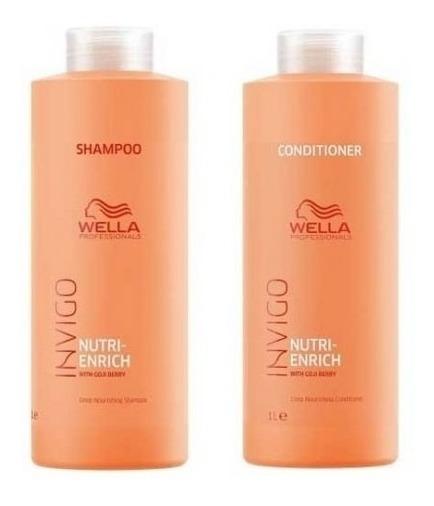 Wella Enrich Invigo Kit Shampoo E Condicionador 1000 Ml Novo