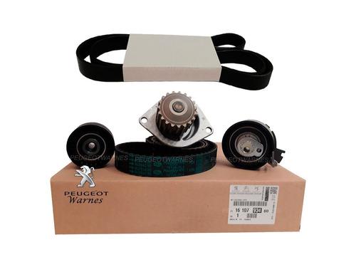 Distribucion + Bomba Original + Poly V Peugeot 308 1.6 Nafta