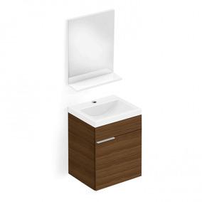 Gabinete Para Banheiro Com Cuba E Espelho Like Celite Ca
