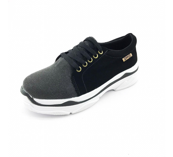 Tênis Quality Shoes Feminino Chunky Multicolor E Nobuck Pret