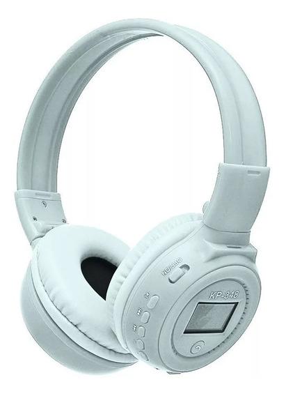 Fone De Ouvido S/fio Bluetooth Fm Mp3 Microsd Knup Kp-348