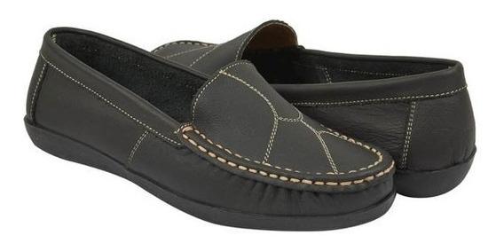 Zapato Mocasín Dama Negro 016716 Mundo Terra