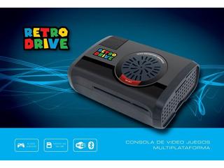 Consola De Videojuegos Retrodrive 64gb + 2 Joy Usb + 32gb