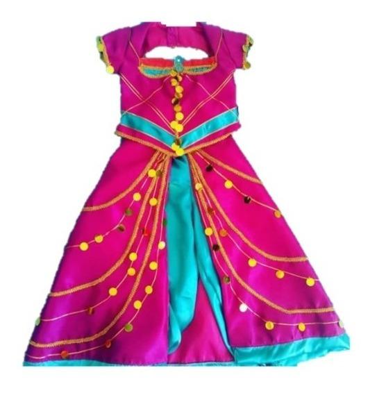 Disfraz Vestido Jazmín Nuevo Rosa Dama Niños