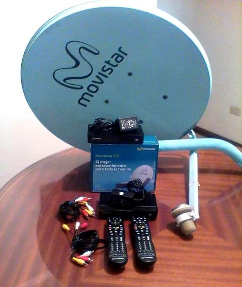 Antena Movistar + 2 Decodificadores + Cargador + Control