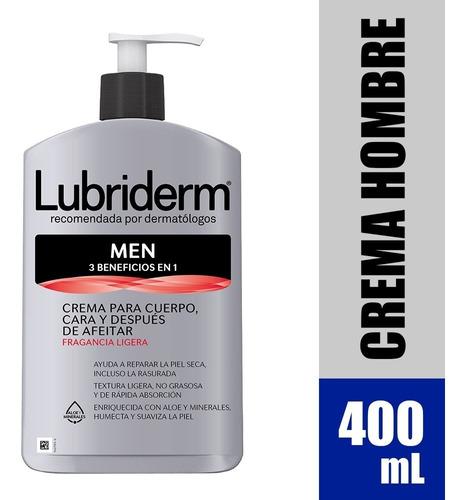 Crema Lubriderm Men Con Fragancia X 400ml