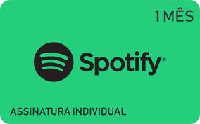 Cartão Pré Pago Spotify 1 Mês Assinatura Spotify Premium