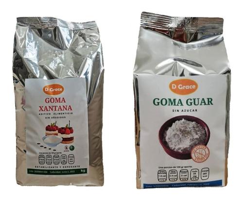 Imagen 1 de 5 de Goma Xantana Y Goma Guar 1 Kg Sin Gluten Keto Alimenticio