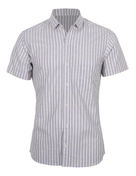 Camisas Hombre Slim Casual Manga Corta Varios Modelos