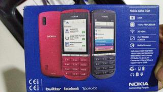 Celular Nokia Asha 300 Preto Tela Resistiva Câmera 5mp 3g