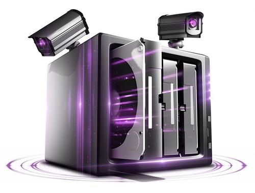 Imagen 1 de 5 de Disco Duro Western Digital 4 Tb 3.5 Sata3 Purple Wd40purz Especializado Para Equipos De Vídeo Vigilancia