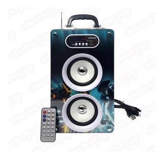 Parlante Multimedia Portatil Bluetooth Luces C/envio Gratis