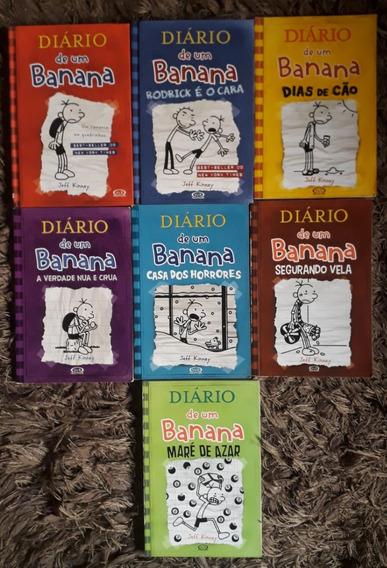 Coleção De Livros Diários De Um Banana Vol.1,2,4,5,6,7 E 8