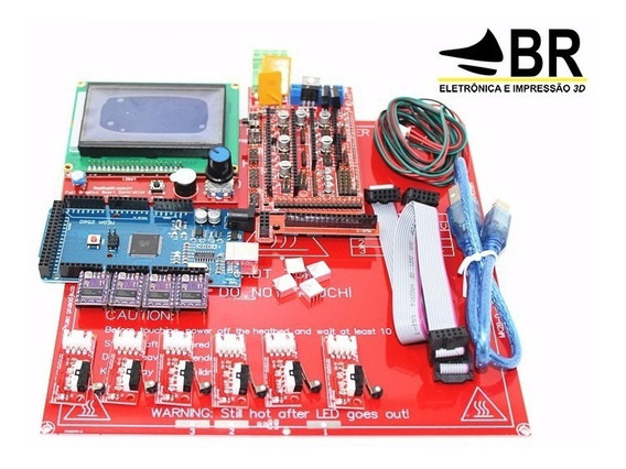 Kit Impressora 3d - Parte Eletrônica Completa + Brindes