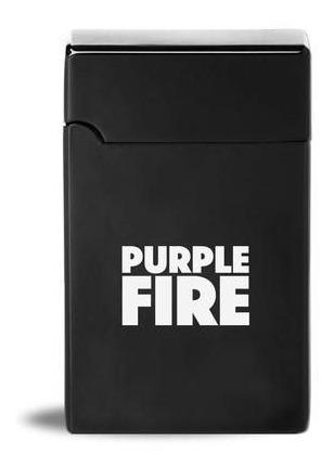 Isqueiro Eletrico Plasma Carregador Usb Purple Fire - Preto
