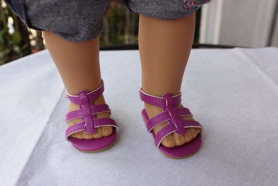 American Girl Zapatos Chatitas Originales P/ Muñeca Cada Par
