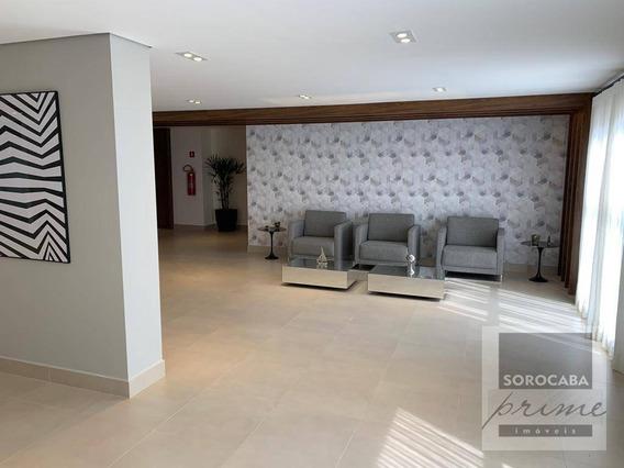 Apartamento Com 2 Dormitórios Para Alugar, 130 M² Por R$ 3.600/mês - Edifício Beethoven - Sorocaba/sp. - Ap0167