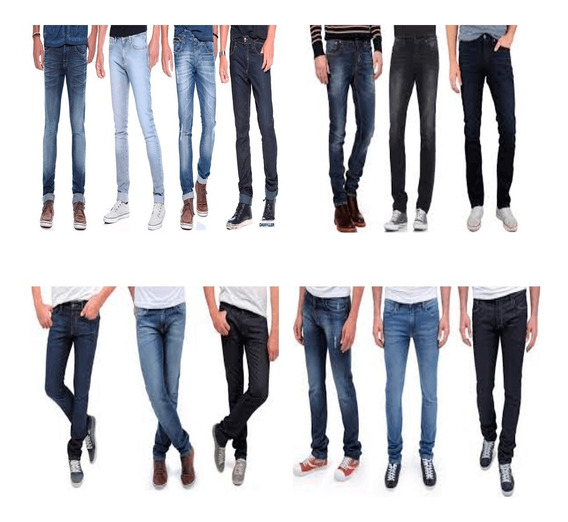 Kit 2 Calça Jeans Masculina De Marca Slim Skinny Casual Top
