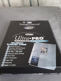 Hojas Ultra Pro 9 Cartas