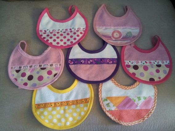 Baberos Para Niñas En Tela De Paño 5 Unidades