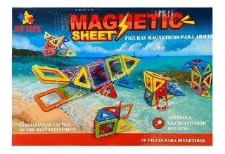 Juego Didactico Bloques Imanes Magnetico Magnetic 20 Piezas