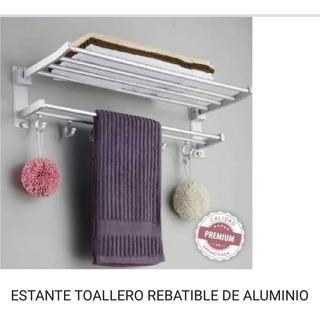 Organizador Baño - Estante Toallero Revatible Aluminio