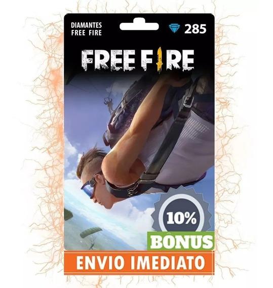 Free Fire 285 Diamantes + 29 Bônus (314) Recarga P/ Conta