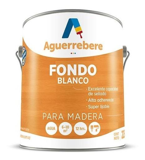 Pintura Fondo Blanco Para Maderas 4 L Aguerrebere