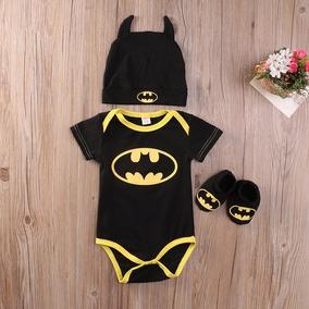 Conjunto Infantil - Body + Touca + Sapatinho - Batman