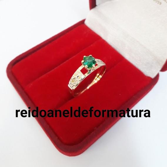 Anel Formatura Em Biomedicina Ouro18k 12xsem/juros