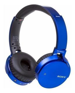 Audífonos Diadema Sony Mdr-xb650bt Extra Bass Bluetooth Azul