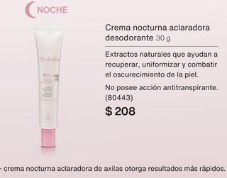 Crema Aclaradora Desodorante Nocturna Natura