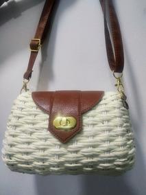 Bolsa Feminina Palha Mini Bag Pequena Blogueiras