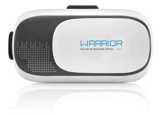 Óculos Realidade Virtual 3d Gamer Warrior Para Celular