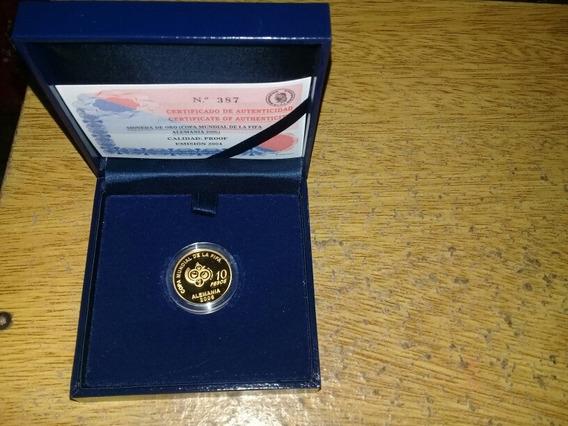 Moneda 10 Pesos Argentina 2004 De Oro 999 Con Certificado