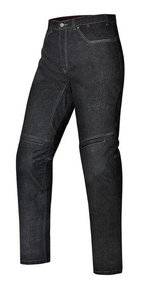 Calça X11 Feminina Jeans Rider Kevlar Preta Proteção Moto