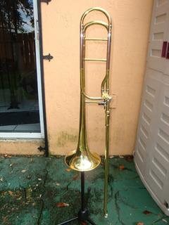 Trombone Hazelton Tenor Bajo Bomba Abierta Americano