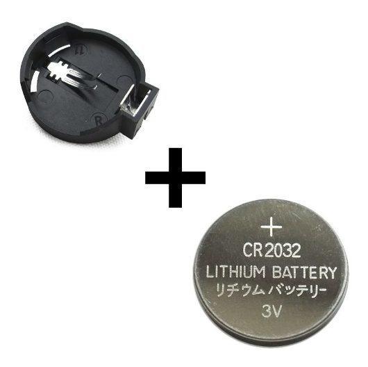 10 Suportes Pilhas Cr2032 + 10 Baterias Cr2032
