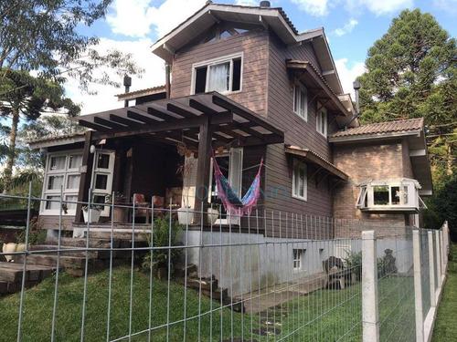 Casa Com 4 Dormitórios À Venda, 243 M² Por R$ 950.000,00 - Sinoserra - Canela/rs - Ca0706