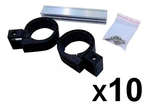 Kit 10 Suporte Carona P/ Lnb Universal Haste Alumínio 11cm Antena Sinal Satélite Pronta Entrega