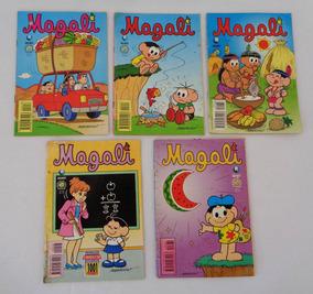 Lote De 5 Revistas Magali 36 Pgs Editora Globo 1996 97 98 99